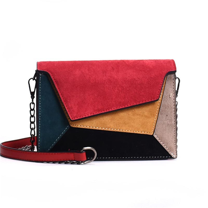 Leather Patchwork Women Messenger Bag