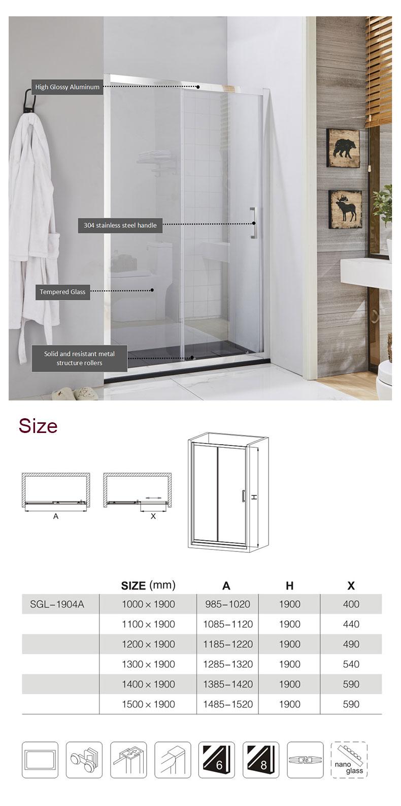 Framed Sliding Shower Door manufacturers