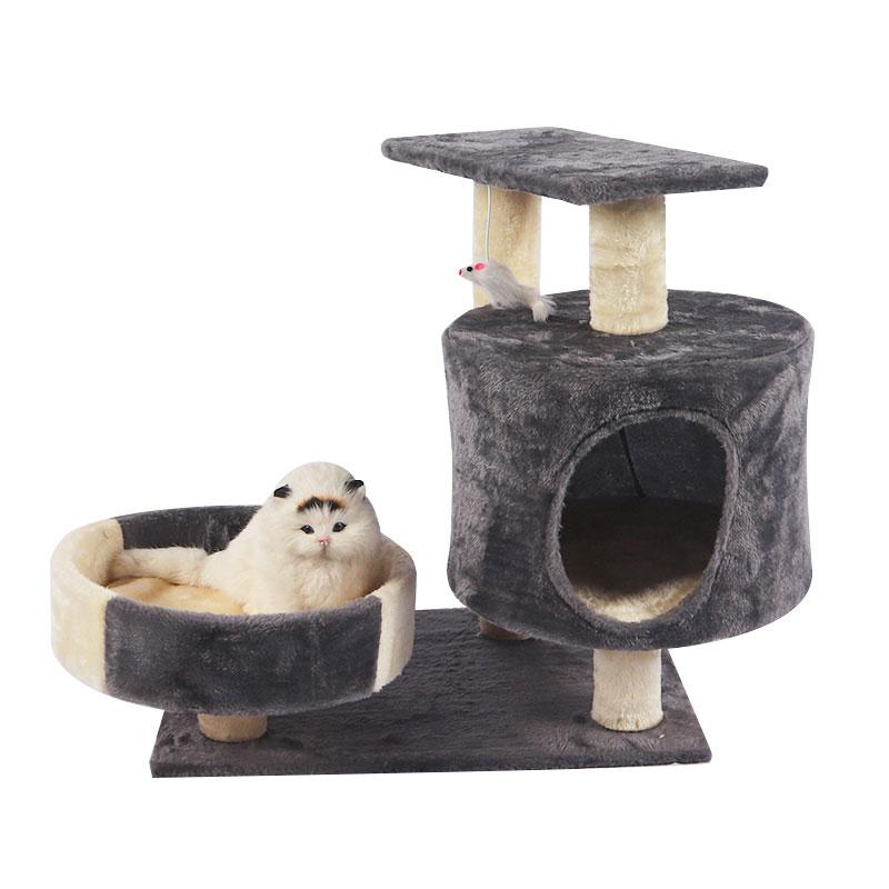 Miniature multi-storey cat climbing frame with cat nest pet product