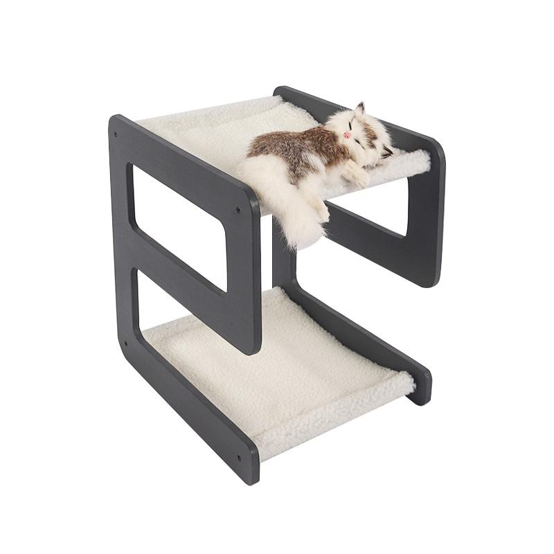 Double decker alphabetic cat bed