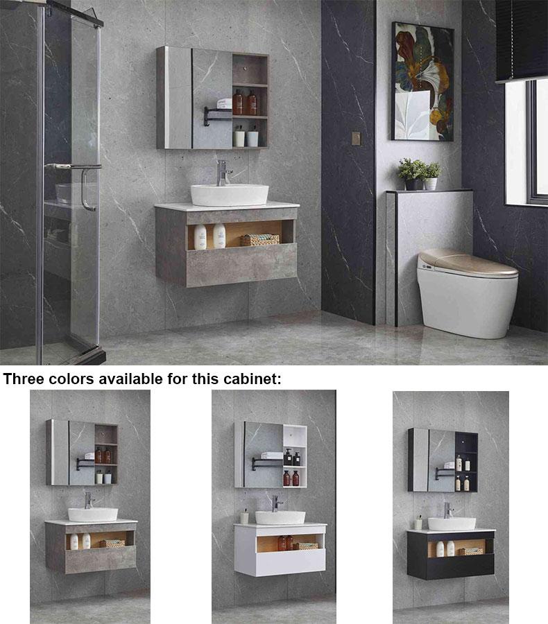 Plywood bathroom wall cabinet
