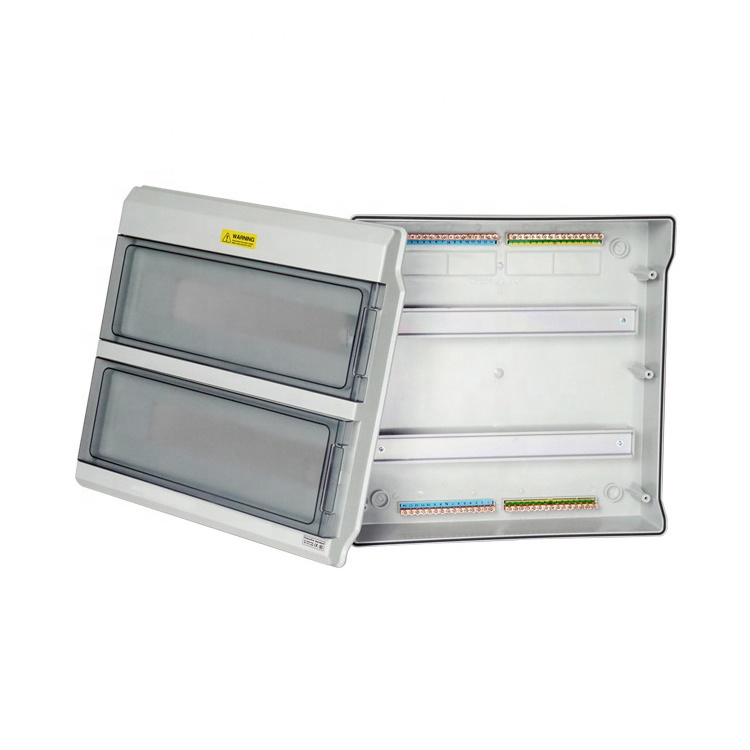 36 Way Waterproof Outdoor MCB Panel Plastic Distribution Box Power Switchboard
