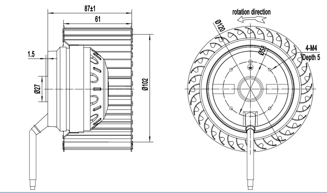 centrifugal fan blower working