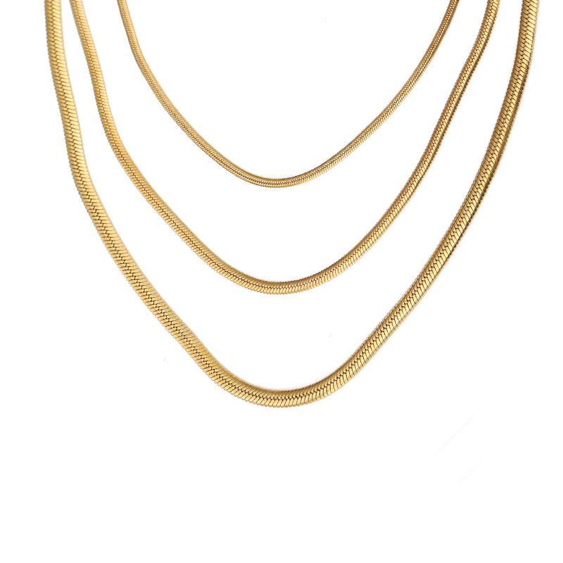 The snake chain collar bone