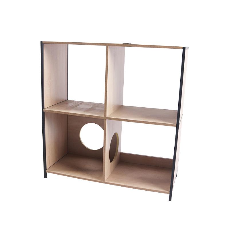 Square double layer cat cabinet pet supplies