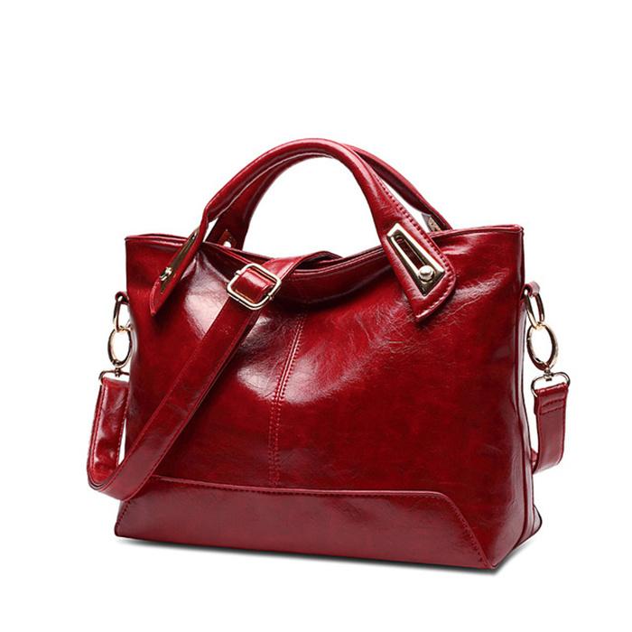 Women Oil Wax Leather Designer Handbags
