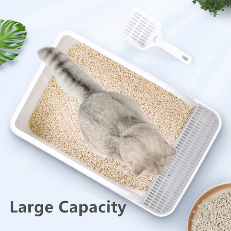 Large capacity cat litter box
