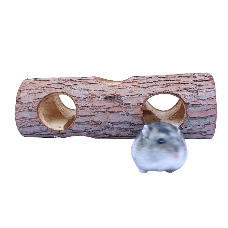 Hamster bark holes pet supplies