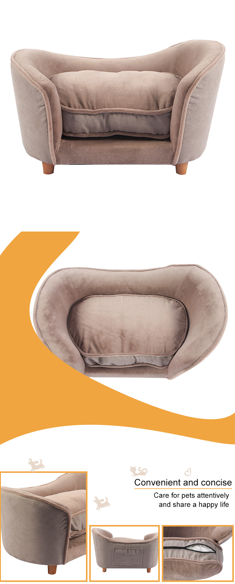 A cat sofa with a silver ingot shape
