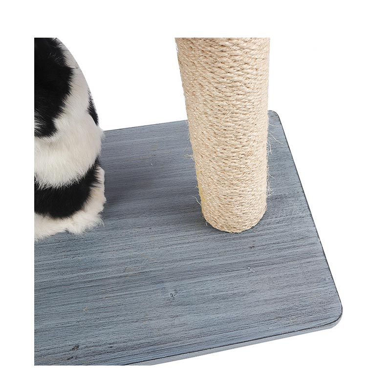 Solid wood double deck cat climbing frame pet product