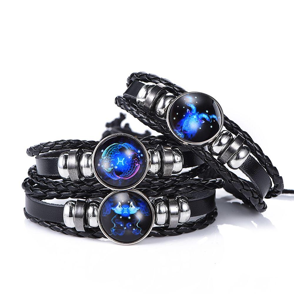 Black punk Leather Bracelet