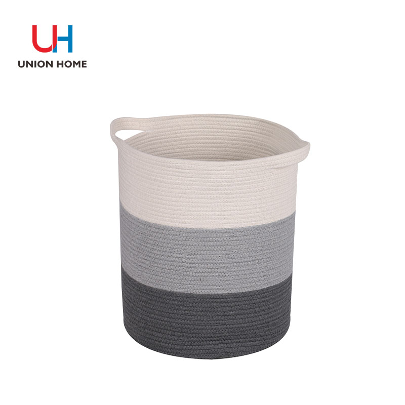 Druable cotton rope laundry bin