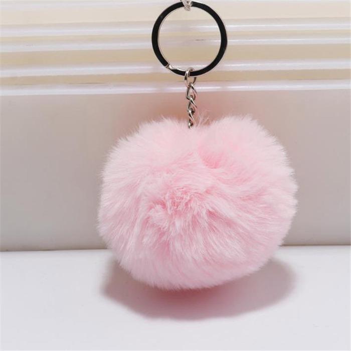 Fur ball Pompon Keychain