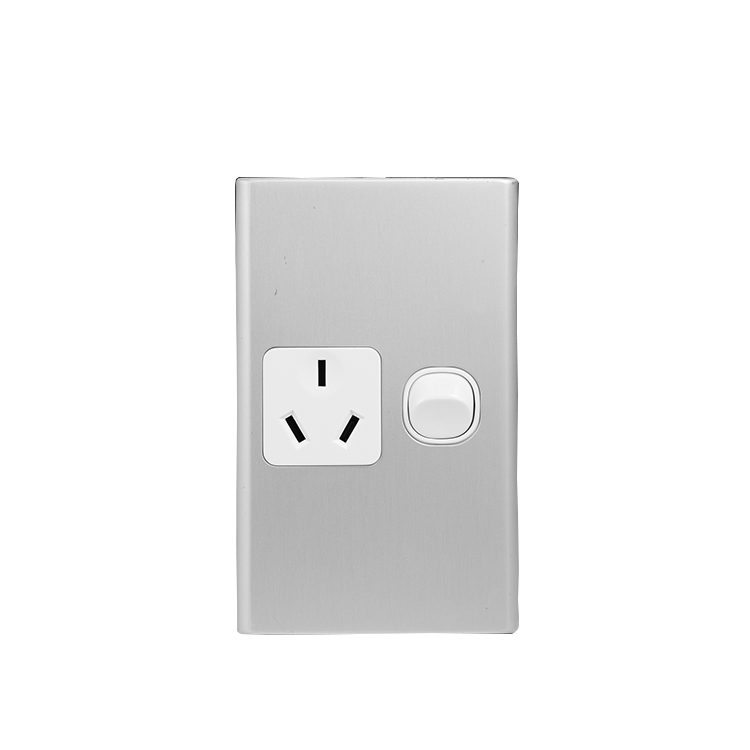 AUS Classic Double 10A GPO Wall Switch Socket
