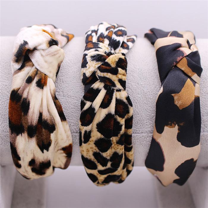 Bohemian Velvet Leopard Knot Hairband