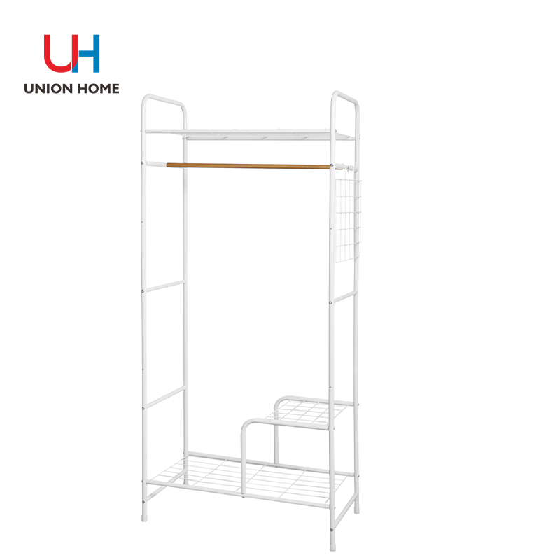 Garment rack with iron wire