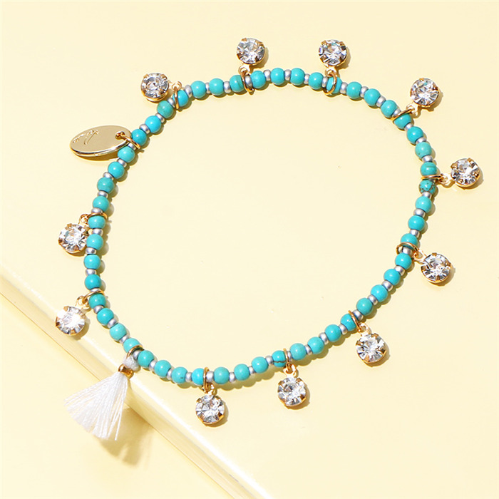Turquoises Metal Ladys Bracelet