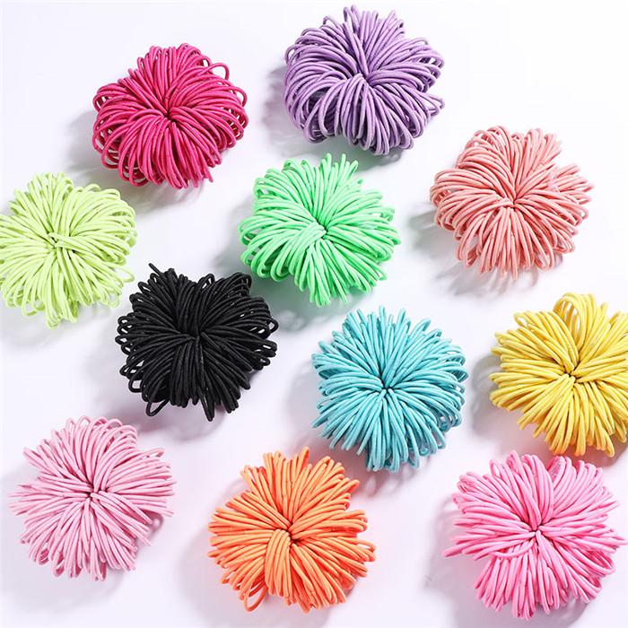 Candy Colors Nylon 3CM Rubber Bands