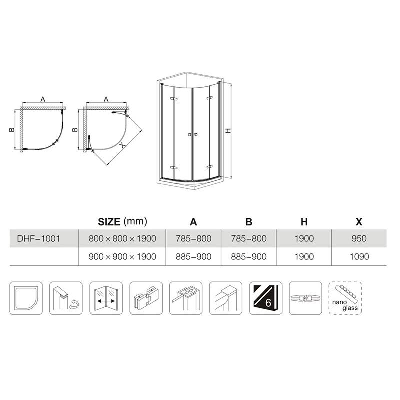 China Pivot Shower Enclosure wholesaler
