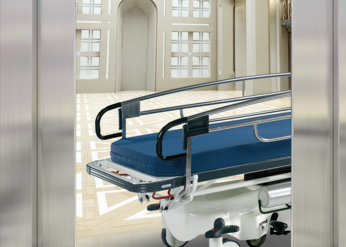 elevator car size for stretcher