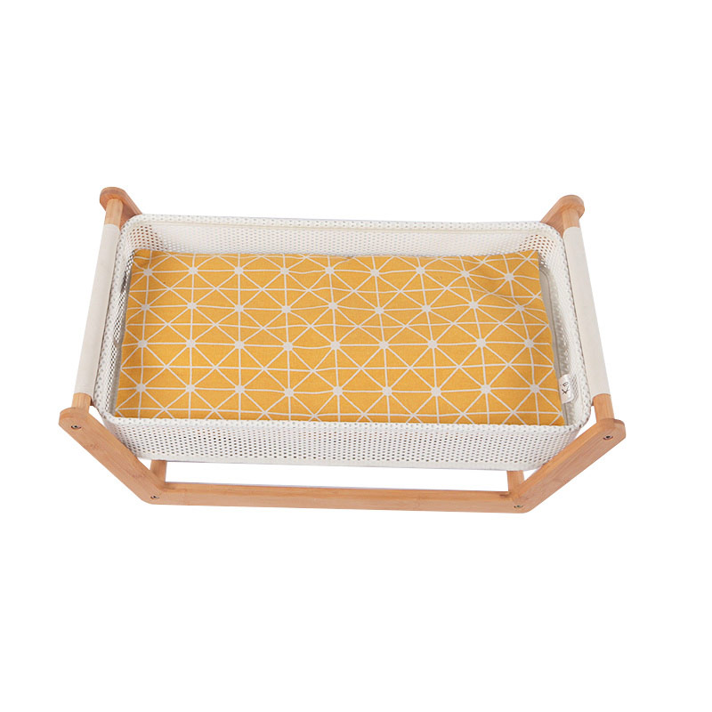 Bamboo cat bed pet product