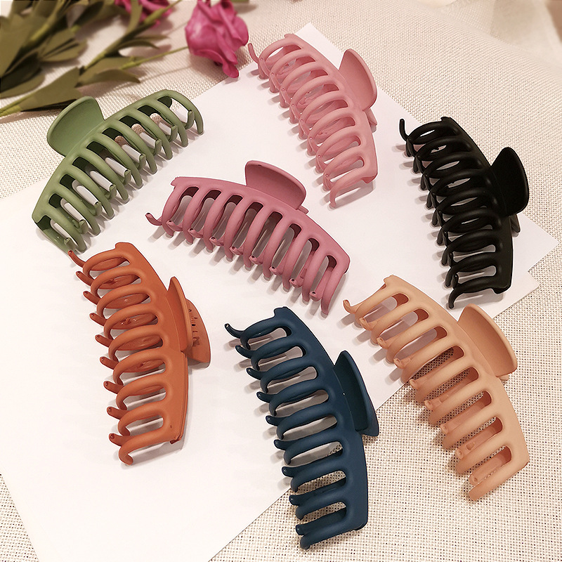 Color frosted dish hair hair clips