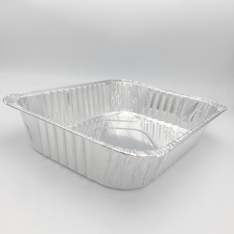 aluminium foil container with lid