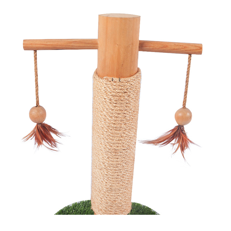 Hi to the solid wooden cat toy