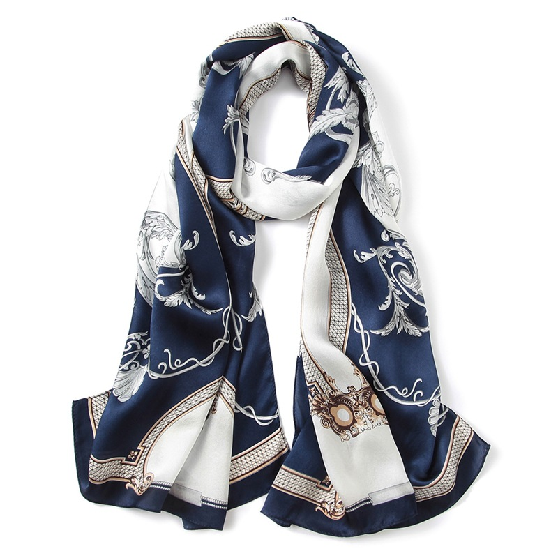 Printing long silk scarves