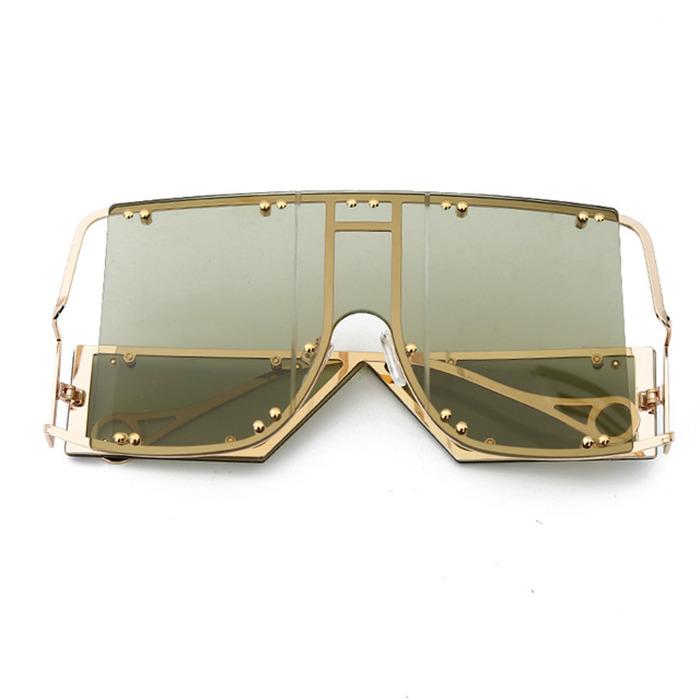 Oversized Mirror Square Sunglasses