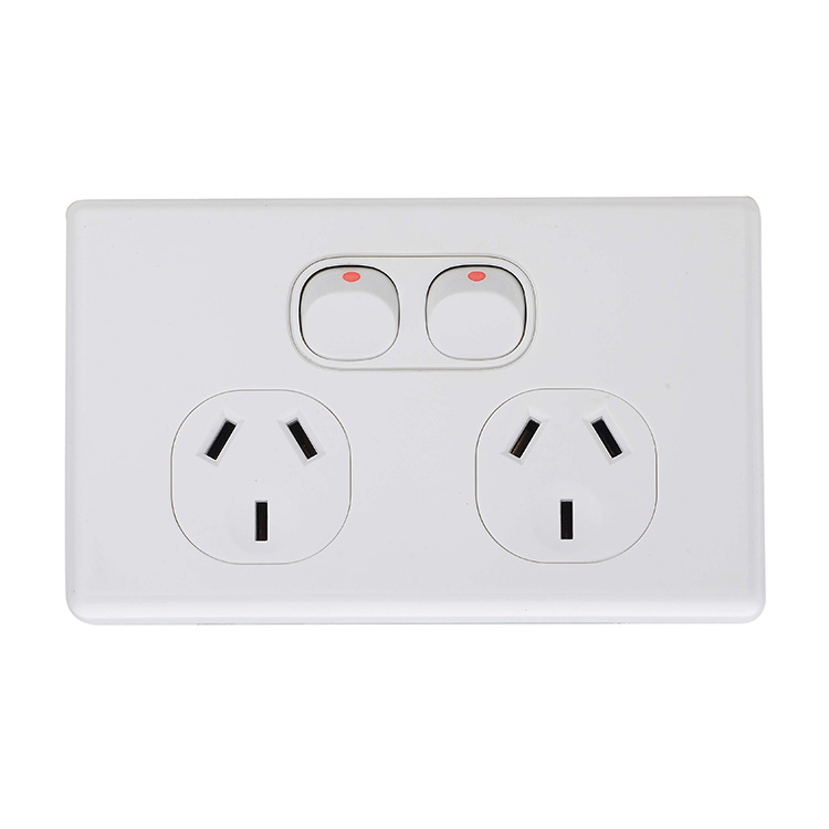 Vertical Saa Australia 10A Wall Electrical Switch and Socket