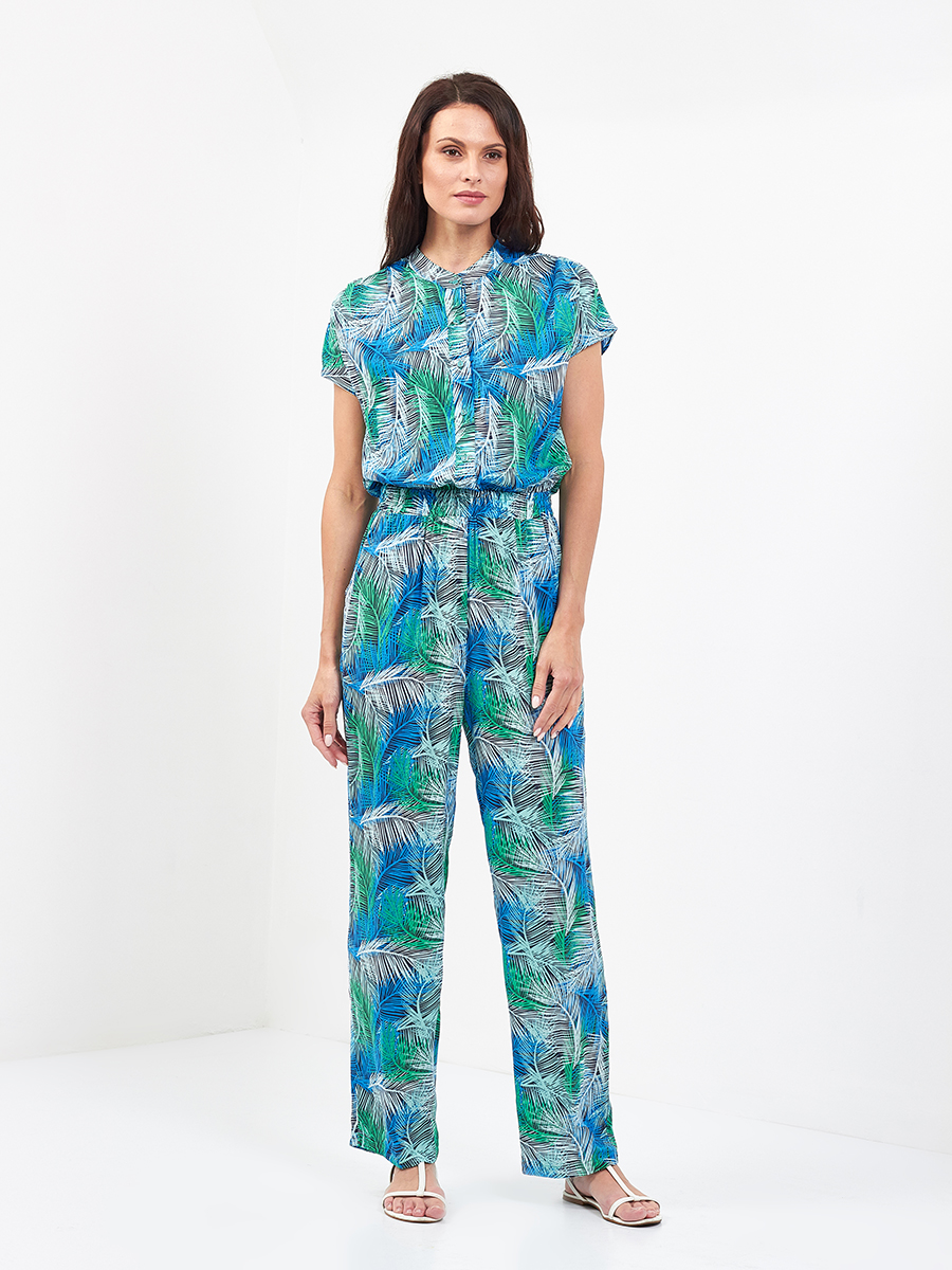 Feather Print Jumpsuit