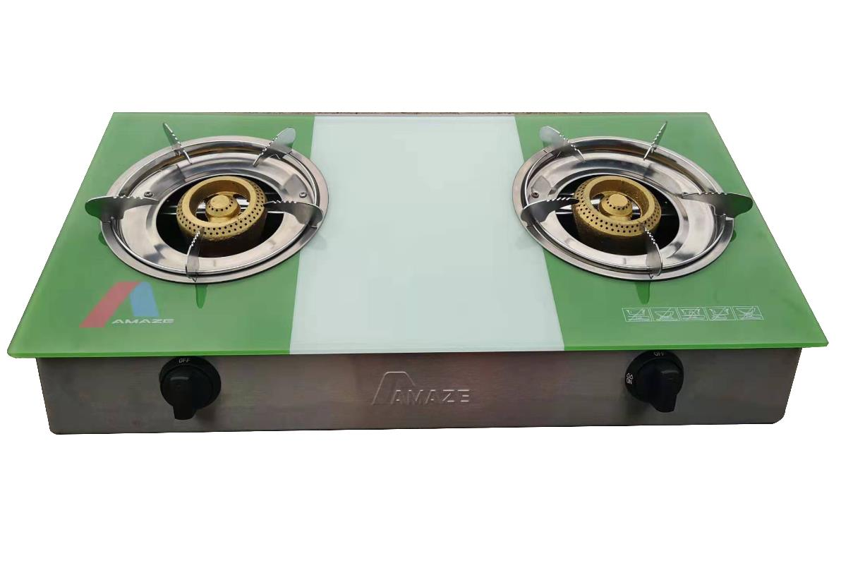 Glass Gas Cooker with Mould Burner