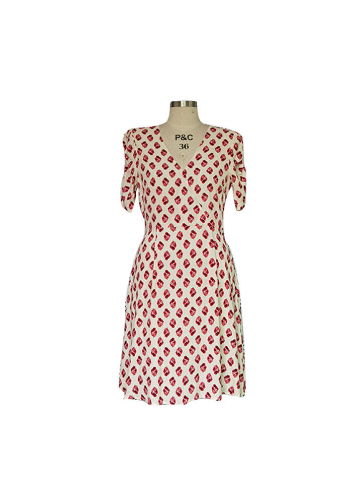 Rhomb print dress