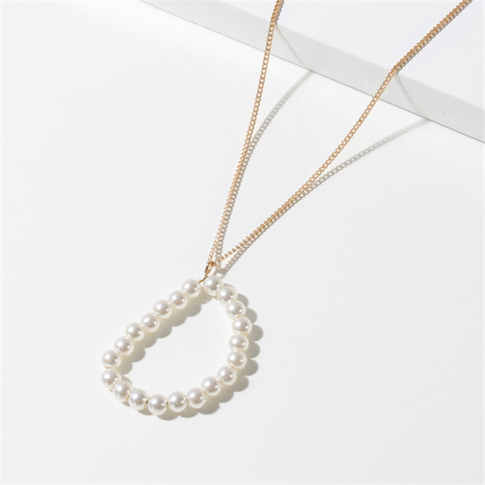 Initial Letter Pearl Necklace