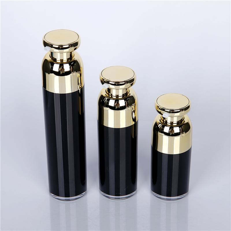 Black plastic Airless bottle