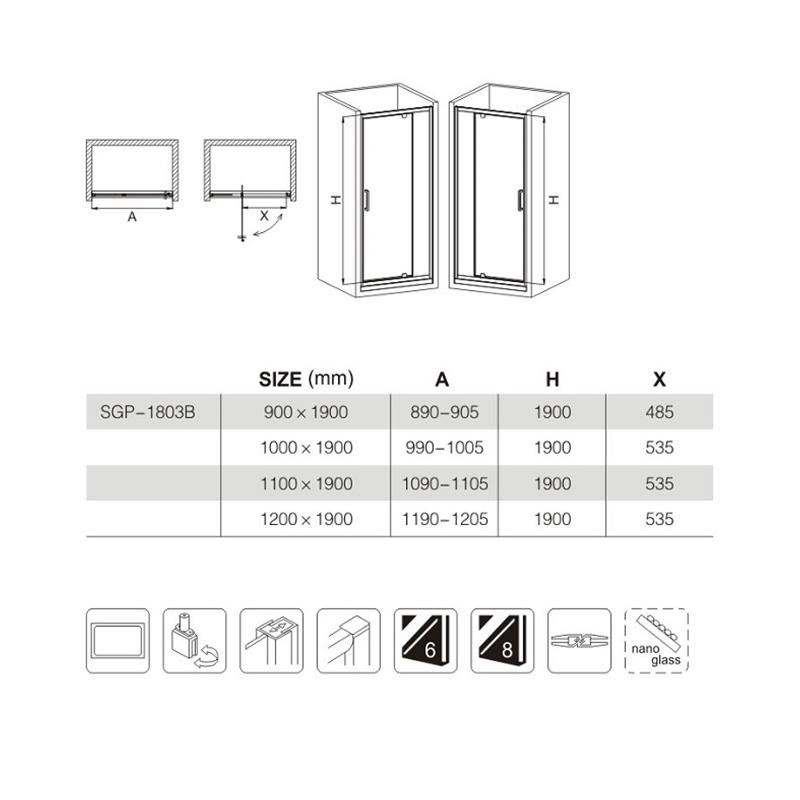 shower door installation manufacturers