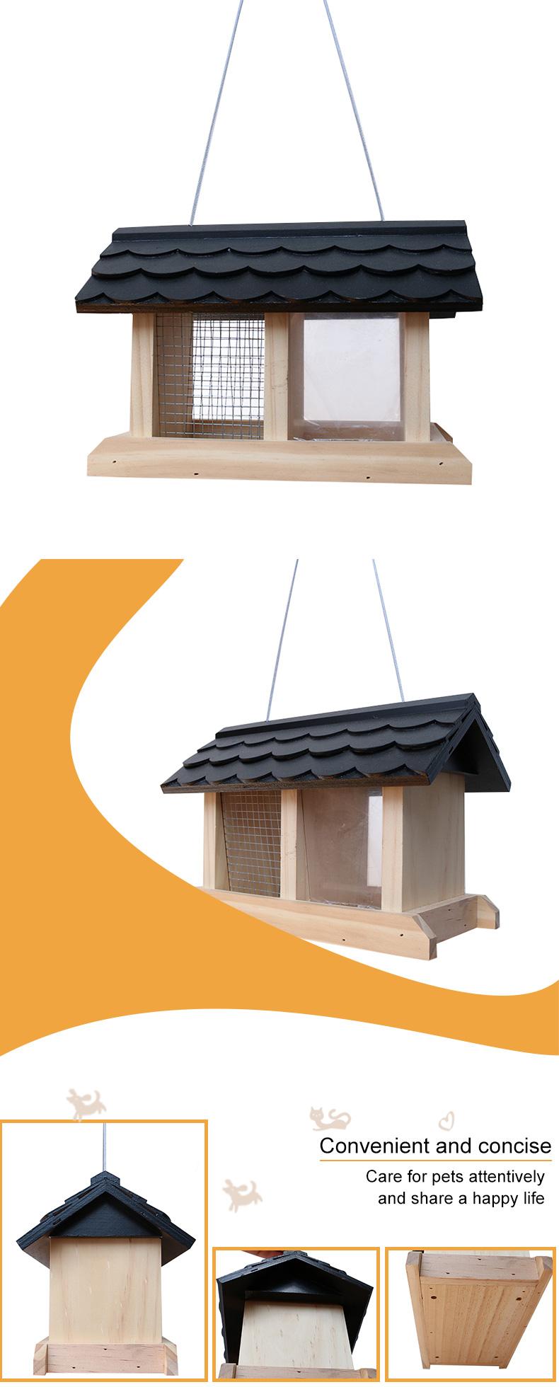 solid wood bird feeder pet supplies