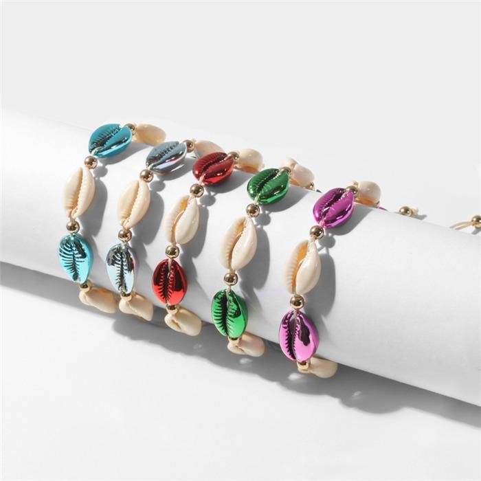 Colorful Sea Shell Bracelets