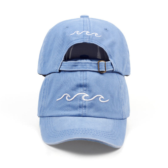 Men sea wave baseball cap