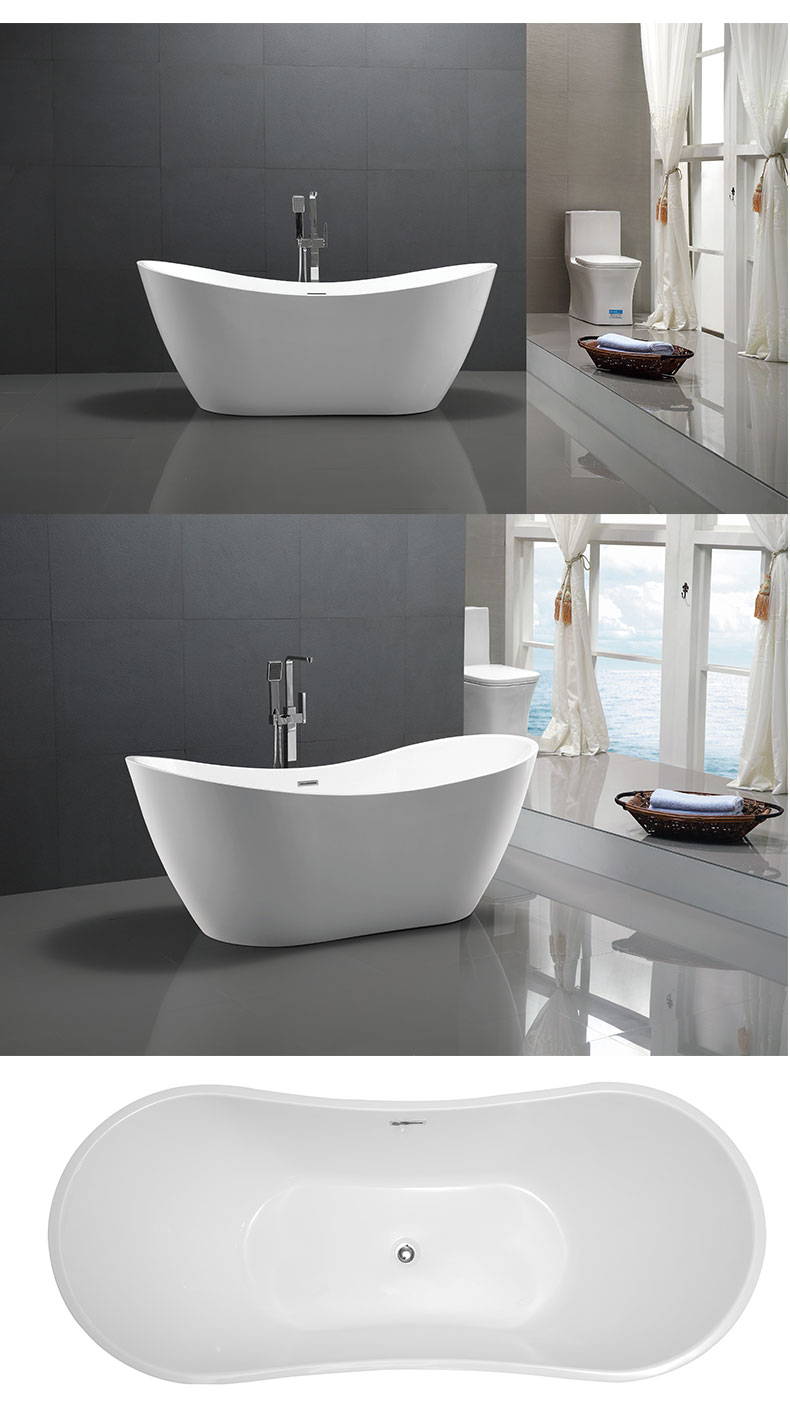48 inch freestanding soaking tub