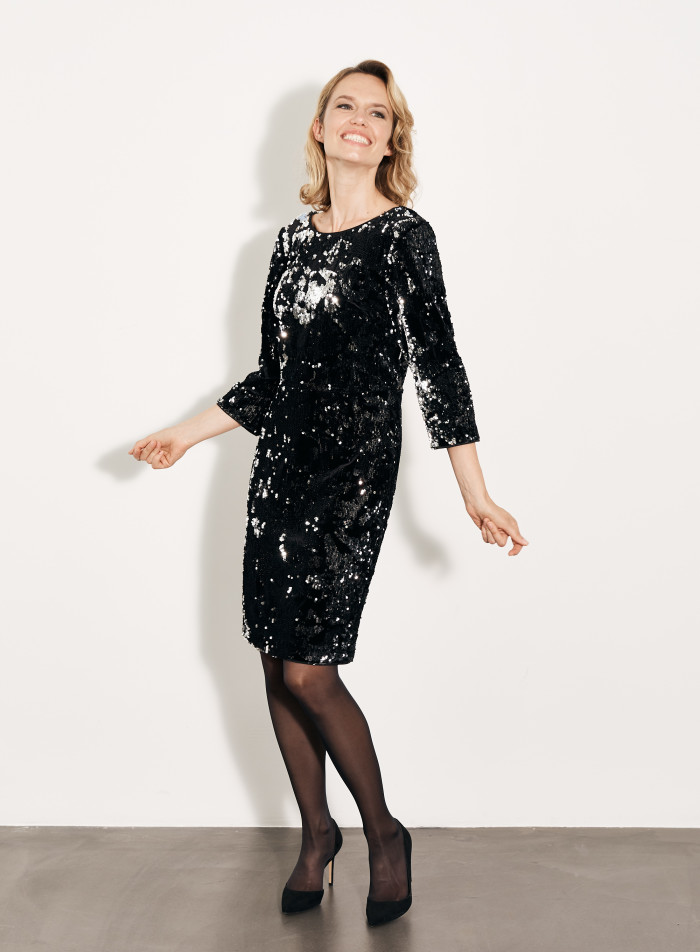 Velvet Sequin EMB Dress