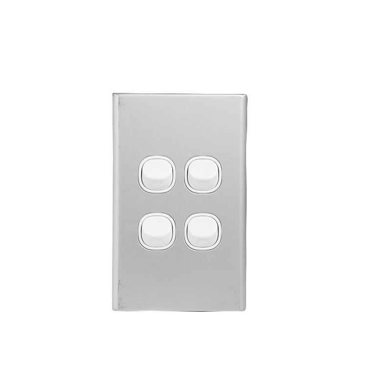 Wholesale Saa Australia 4 Gang Light Switch Plate