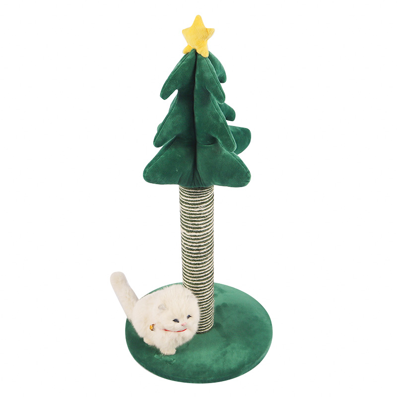Christmas tree cat scratching post