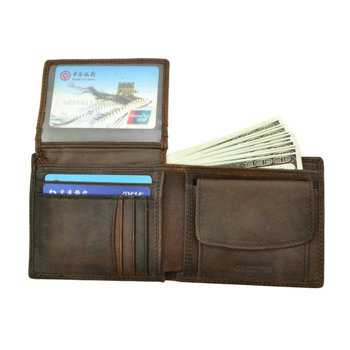 Brown Genuine Leather Men Wallet