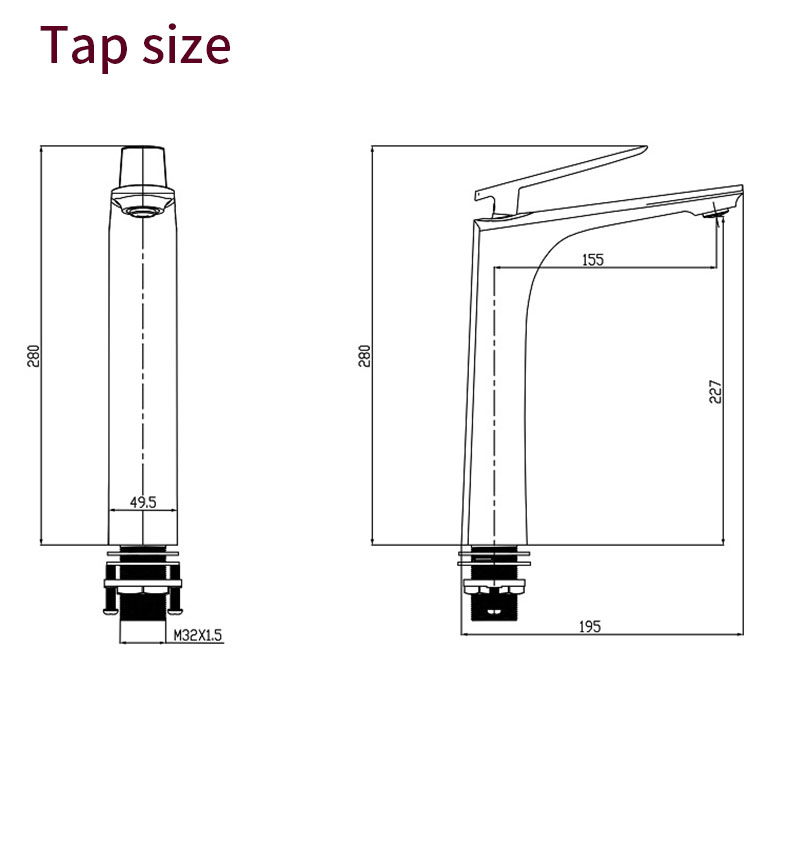High Body Basin Faucet
