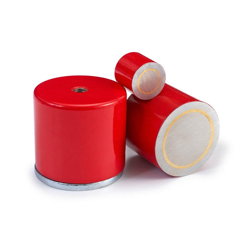 Red Cylinder Pot Magnet