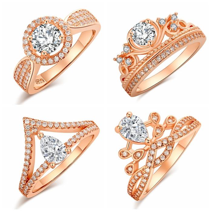 Rose gold round ring