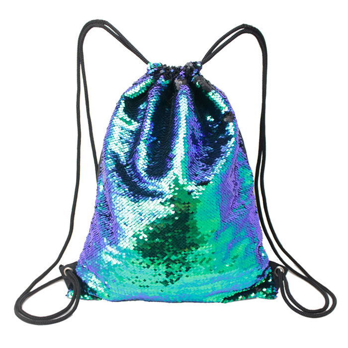Toggle color sequins sports bag