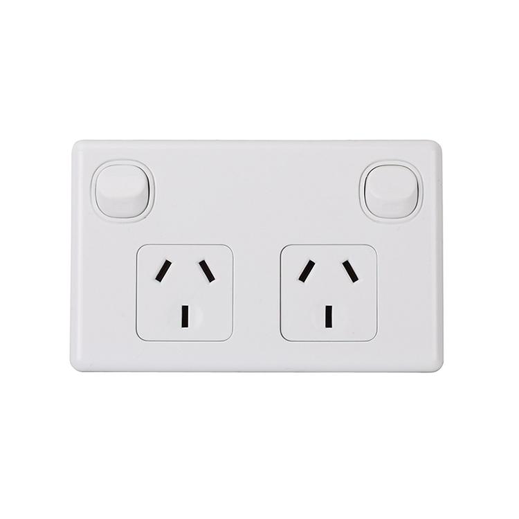 15A 250V Australia Electrical Horizontal Powerpoint